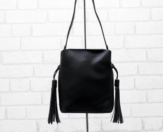 Дамска чанта еко кожа черна JNHI-26288