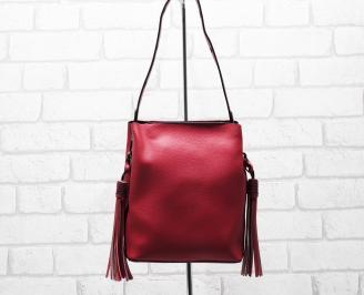 Дамска чанта еко кожа червена BZPI-26289