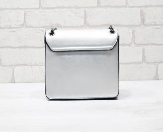 Дамска чанта еко кожа сребриста ZNSQ-26321