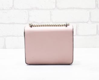 Дамска чанта еко кожа розова KIBV-26325
