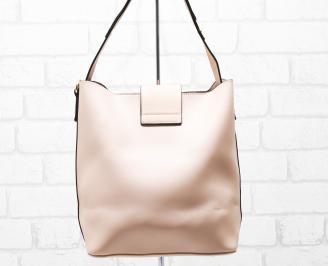 Дамска чанта еко кожа розова GXYI-26328