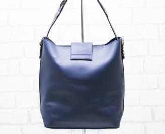 Дамска чанта еко кожа синя FWNU-26330