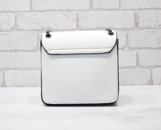 Дамска чанта еко кожа бяла EKCI-26342
