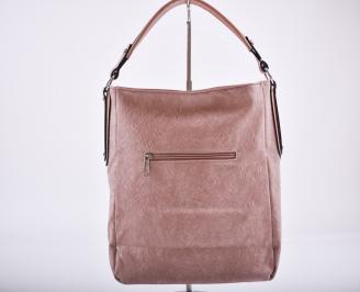 Дамска чанта еко кожа розова SDFK-26346