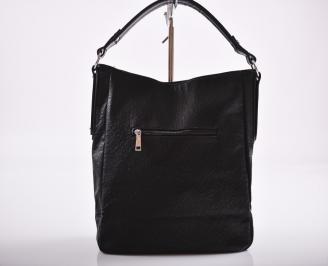 Дамска чанта еко кожа черна HSTF-26357