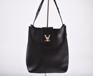 Дамска чанта еко кожа черна GMUB-26359