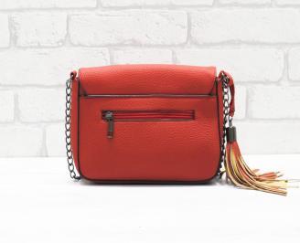 Дамска чанта еко кожа червена ULJB-26367