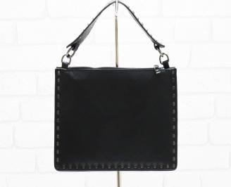 Дамска чанта еко кожа черна UODD-26368