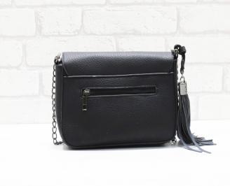 Дамска чанта еко кожа черна OJPM-26369