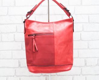 Дамска чанта еко кожа червена YBQQ-26410