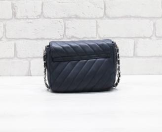 Дамска чанта еко кожа синя HOLI-26478