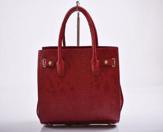 Дамска чанта еко кожа червена DMUM-27167