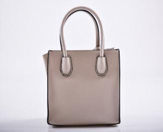 Дамска чанта еко кожа бежова QNMW-27172
