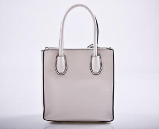 Дамска чанта еко кожа бяла WHDP-27173