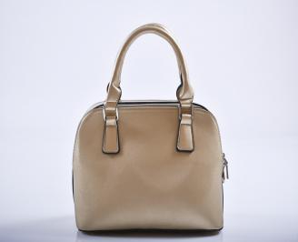 Дамска чанта еко кожа златиста