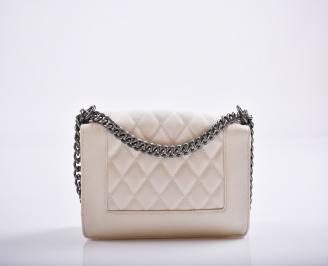 Дамска чанта еко кожа бежова GZNT-27181