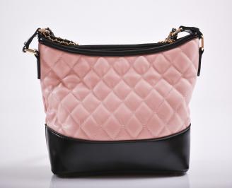 Дамска чанта еко кожа розова JFKH-27184