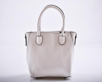 Дамска чанта еко кожа бяла ZLUF-27185