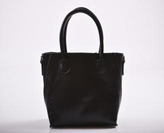 Дамска чанта еко кожа черна VSFP-27186