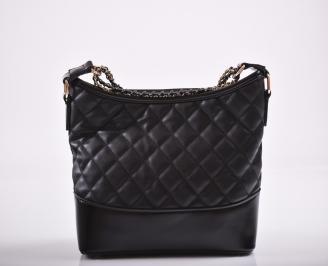 Дамска чанта еко кожа черна EKBD-27187