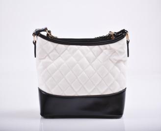 Дамска чанта еко кожа бяла HYUW-27188
