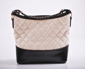 Дамска чанта еко кожа бежова KTVV-27189