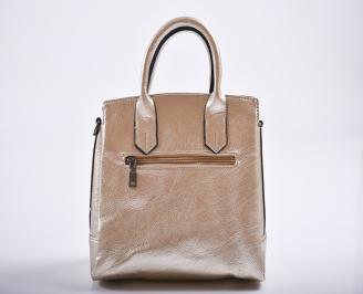 Дамска чанта еко кожа златиста HACI-27191