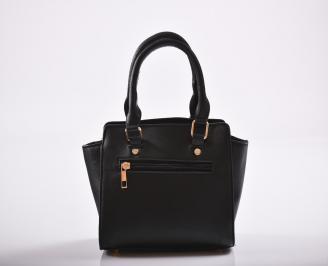 Дамска чанта еко кожа черна KGEK-27194