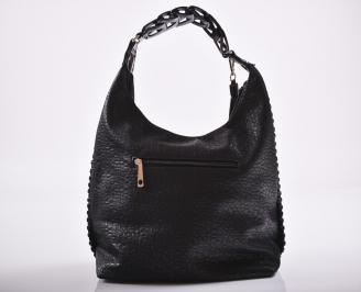 Дамска чанта еко кожа черна OVNP-27195