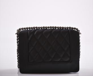 Дамска чанта еко кожа черна AVKF-27196