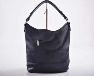 Дамска чанта еко кожа синя RWYA-27199