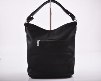 Дамска чанта еко кожа черна LCMM-27200