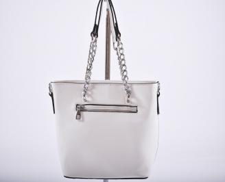 Дамска чанта еко кожа бяла EMFA-27204