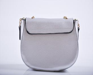 Дамска чанта еко кожа сребриста INKN-27208