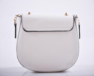 Дамска чанта еко кожа бяла ABBY-27210