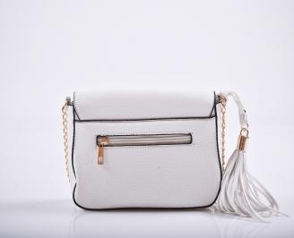 Дамска чанта еко кожа бяла IDNG-27214
