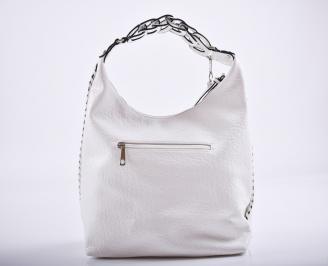Дамска чанта еко кожа бяла GVQO-27216