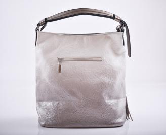 Дамска чанта еко кожа бежово/омбре BPTI-27217