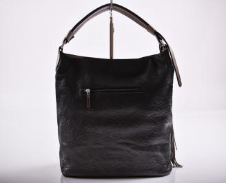 Дамска чанта еко кожа черна IHMP-27218