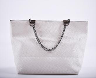 Дамска чанта еко кожа бяла VZRF-27221