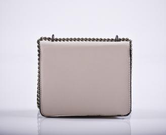 Дамска чанта еко кожа бежова RIRF-27223