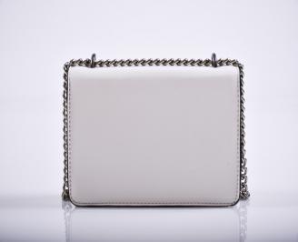 Дамска чанта еко кожа бяла MOOA-27224