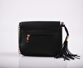 Дамска чанта еко кожа черна DKFS-27226