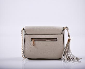Дамска чанта еко кожа бежова UHEG-27227