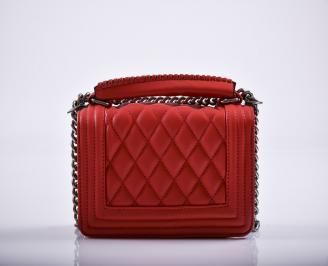 Дамска чанта еко кожа червена HGZU-27233