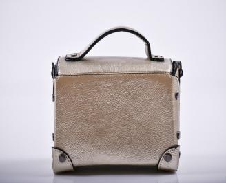 Дамска чанта еко кожа златиста GRKL-27236