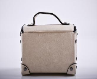 Дамска чанта еко кожа бежова AECV-27237