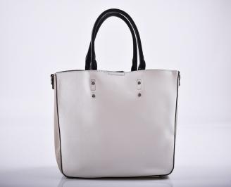 Дамска чанта еко кожа бяла DOID-27241