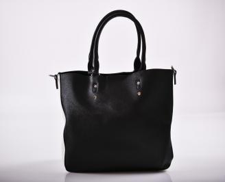 Дамска чанта еко кожа черна HQIH-27243