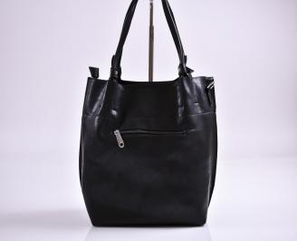 Дамска чанта еко кожа черна RGFF-27348